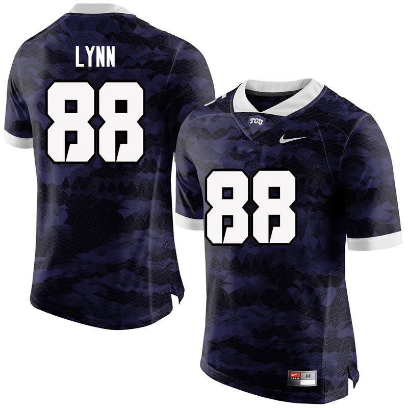 Men #88 Artayvious Lynn TCU Horned Frogs College Football Jerseys-Purple